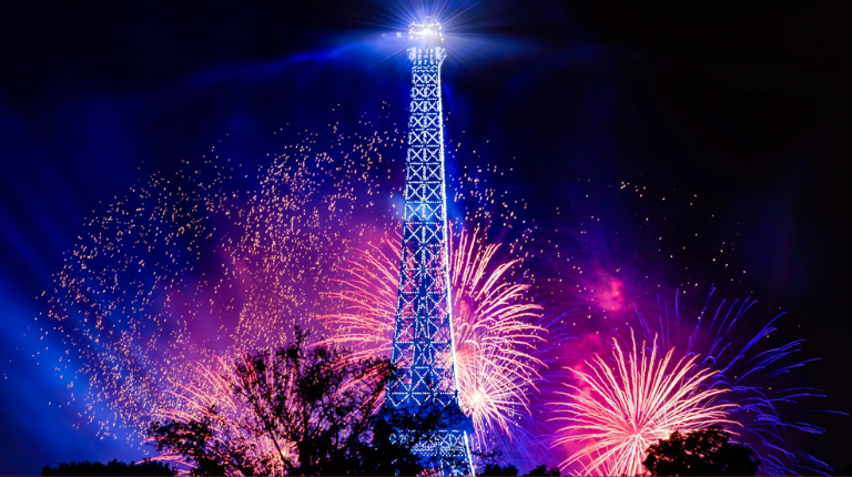 The Eiffel Tower with Fireworks